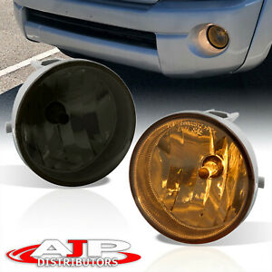 Smoked Bumper Fog Lights Lamps Bulbs Complete Kit For 2005 2011 Toyota Tacoma