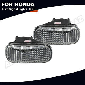 2x Oe Side Marker Light Clear Lens For Honda Accord Civic Cr V Acura Rsx Integra