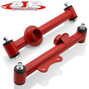 Rear Racing Tubular Lower Control Arms Pair Set Red For 1979 2004 Ford Mustang