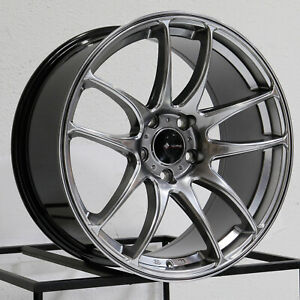 17x8 Vors Tr4 5x114 3 35 Hyper Black Wheels Rims Set 4 73 1