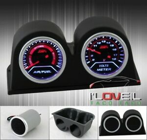 Air Fuel Lean Rich Voltage Meter Gauge Twin Pod Dash Board Mount Holder Sets