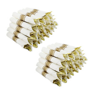 Spec101 Rolled Plastic Cutlery 100ct Gold Silverware Disposable Utensil Set