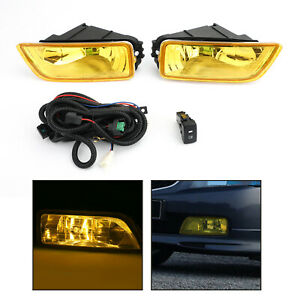 Yellow Lens Fog Lights Switch For 2003 2007 Honda Accord 2004 2008 Acura Tl