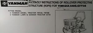 Yanmar Diesel Ym122 Ym146 Lawn Garden Tractor Gt14 Rops Assembly Parts Manual