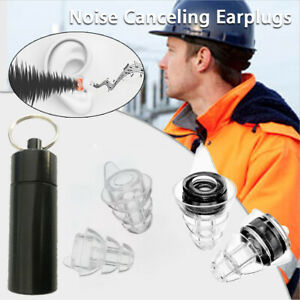 Professional Concert Silicone Reusable 20db Anti Noise Ear Protection Earplugs