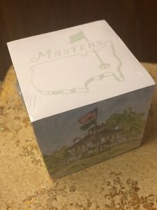 Masters Golf Desk Note Pad Memo Cube New Sealed Augusta National