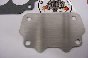 Fits Gto Tri Power Large Rochester 2gc Big 500 Carb Intake Block Off Plate 062