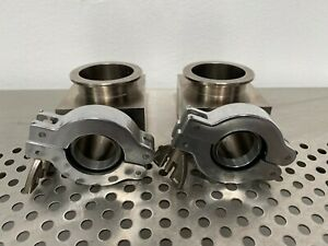 Stainless Steel Vacuum Pump Elbow Reducer Kf 25 To Kf 40 Fitting