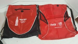 (2) Coca-Cola Olympics Drawstring Backpack *B48