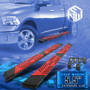 For 09 20 Dodge Ram Quad Cab 5 5 Flat Running Board Step Nerf Bars Replacement