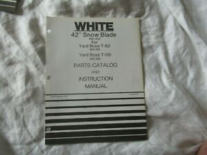 White 42 Snow Blade Operator s Instruction Manual And Parts Catalog