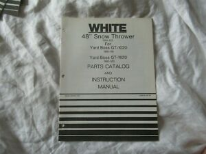 White 48 Snow Thrower Operator s Instruction Manual And Parts Catalog