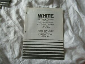 White 36 42 Snow Thrower Operator s Instruction Manual And Parts Catalog