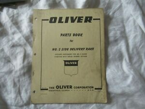 1960 Oliver No 2 Side Delivery Rake Parts Book Catalog Manual