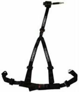 Corbeau 2 Inch Black 3 Point Retractable Bolt In Harness Belt