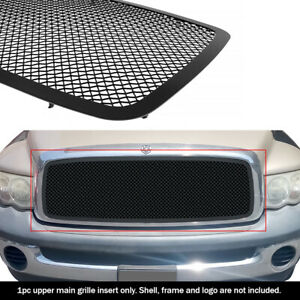 Fits 2002 2005 Dodge Ram 1500 2500 3500 Main Stainless Black Mesh Grille Insert