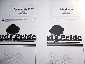 Land Pride Parts Operator Manuals Rb Rbt Series Rear Blades See List
