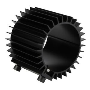 Engine Oil Filter Cooler Cogwheel Type Heat Sink Cover Aluminum Alloy Black Part