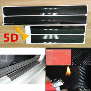 Car Door Sill Scuff Parts Accessories Carbon Fiber Vinyl Plate Sticker Protector