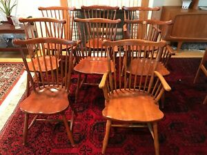 Stickley Windsor Type Chairs 4 Arm Chairs 4 Side Chairs