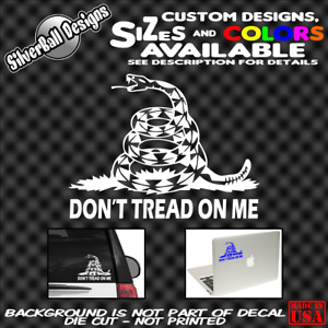 Dont Tread On Me Custom Decal Sticker Window Car Truck Gadsden Usa Freedom Usmc