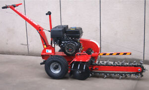 New 15hp Gas Powered Walk Behind Trencher Digger 24 Depth 27 Tooth