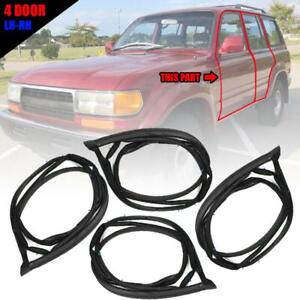 Door Rubber Seal Weatherstrip Front Rear For Toyota Land Cruiser Fj80 1990 1998