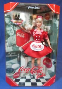 1999 Coca-Cola Barbie Car Hop Doll – 1st in Series, NRFB – Collector Edition
