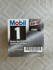 Mobil 1 Full Synthetic 5w50 Motor Oil 6 Qts