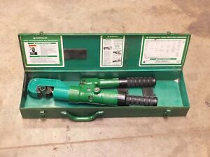 Greenlee 1989 Dieless 15 Ton Manual Crimper
