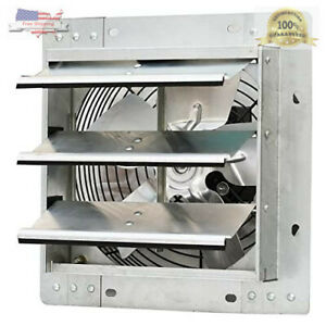 Shutter Exhaust Fan 12 Automatic Explosion Proof Garage Cool Air Blades