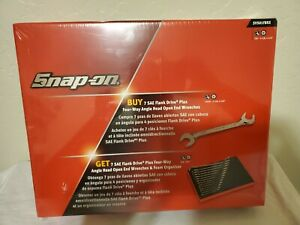 Snap On Tools 14 Piece Sae Flank Drive Plus Four Way Angle Head Open Wrenches