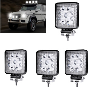 4x 27w Led Work Light Pods Flood Spot Lights For Truck Off Road Tractor 12v 24v