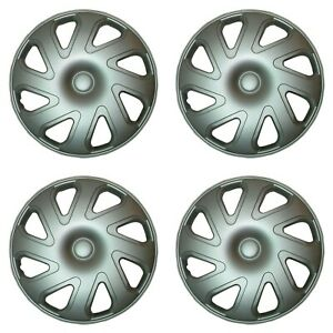 14 Inch Hubcaps Set Of 4 For Toyota Corolla 2000 2001 2002 Wheelcover Silver 14