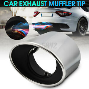 Exhaust Muffler Tail Tip Oval Pipe Chrome Stainless For Honda Accord 08 12 Usa