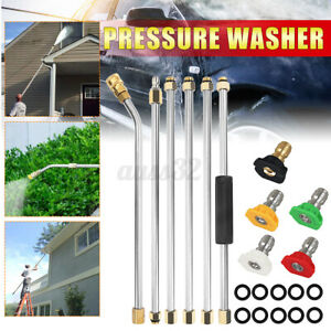 High Pressure Washer Extension Rod Cleaning Lance Kit Quick Connect 5 Nozzles