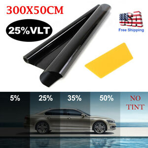 Uncut Window Tint Roll 25 Vlt 20 10 Ft Feet Home Commercial Office Auto Film