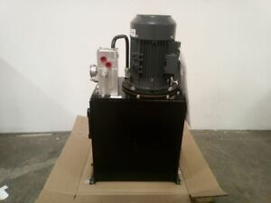 Monarch T94c405c93f0 01 5 Hp 1800 Rpm 208 230 460vac 15 Gal Hydraulic Power Unit