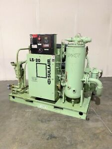 Sullair 100hp Rotary Screw Air Compressor Ls 20 100h 125 Psig 460 Cfm Water Cool
