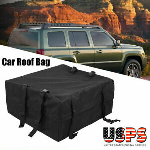 Roof Rack Cargo Carrier Car Suv Van Top Luggage Storage Holder Bag Box Travel Us