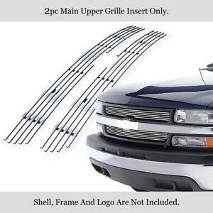 Fits 1999 2002 Chevy Silverado 1500 00 06 Tahoe Stainless Billet Grille