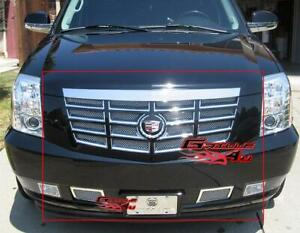 Fits 2007 2014 Cadillac Escalade Stainless Steel Mesh Grille Grill Insert Combo