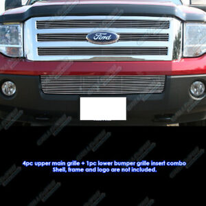 Fits 2007 2014 Ford Expedition Billet Grille Grill Insert Combo