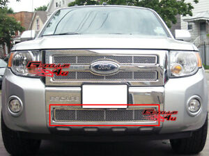 Fits 2008 2011 Ford Escape Bumper Stainless Mesh Grille
