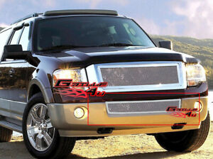 Fits 2007 2014 Ford Expedition Bumper Stainless Steel Mesh Grille Grill Insert