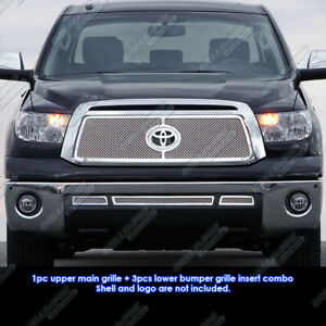 Fits 2010 2013 Toyota Tundra Stainless Steel Mesh Grille Grill Insert Combo