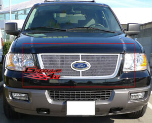 Fits 2003 2006 Ford Expedition Stainless Mesh Grille Insert