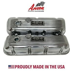 Big Block Chevy Classic Style 454 Motion Valve Covers Polished Ansen Usa