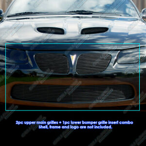 Fits 2004 2006 Pontiac Gto Black Billet Grille Grill Combo Insert
