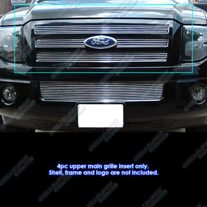 Fits 2007 2014 Ford Expedition Main Upper Chrome Billet Grille Grill Insert